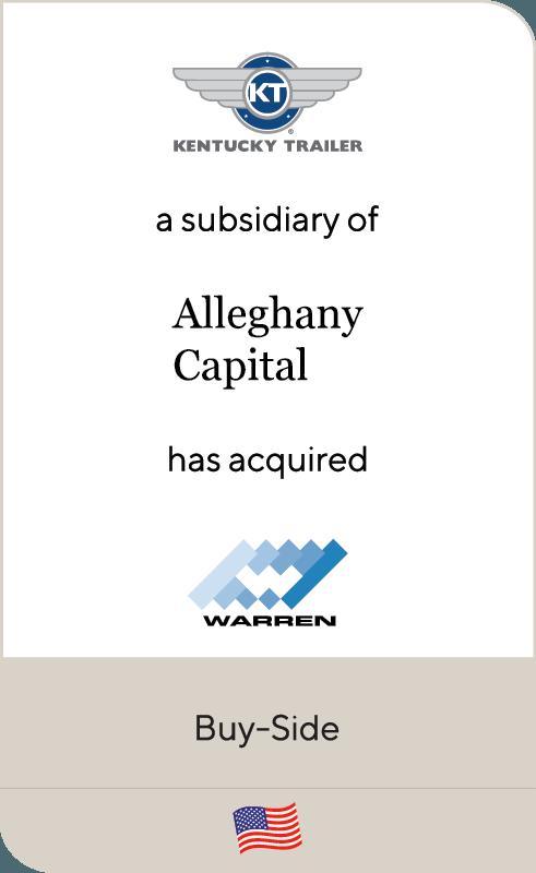 Kentucky Trailer Alleghany Capital Warren Manufacturing 2019