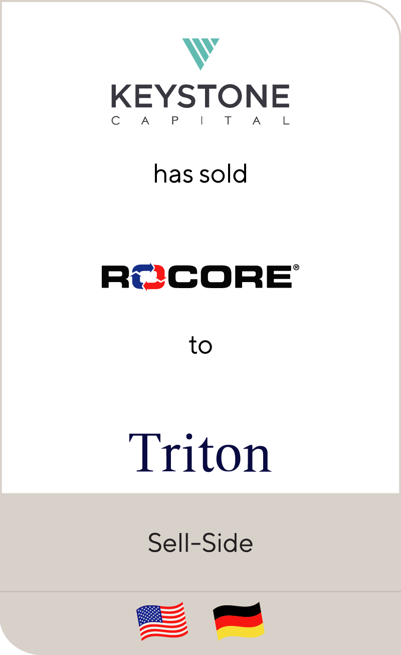 Keystone Capital has sold Rocore Group to Triton