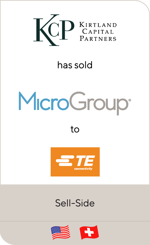 Kirtland Capital Partners has sold MicroGroup to TE Connectivity