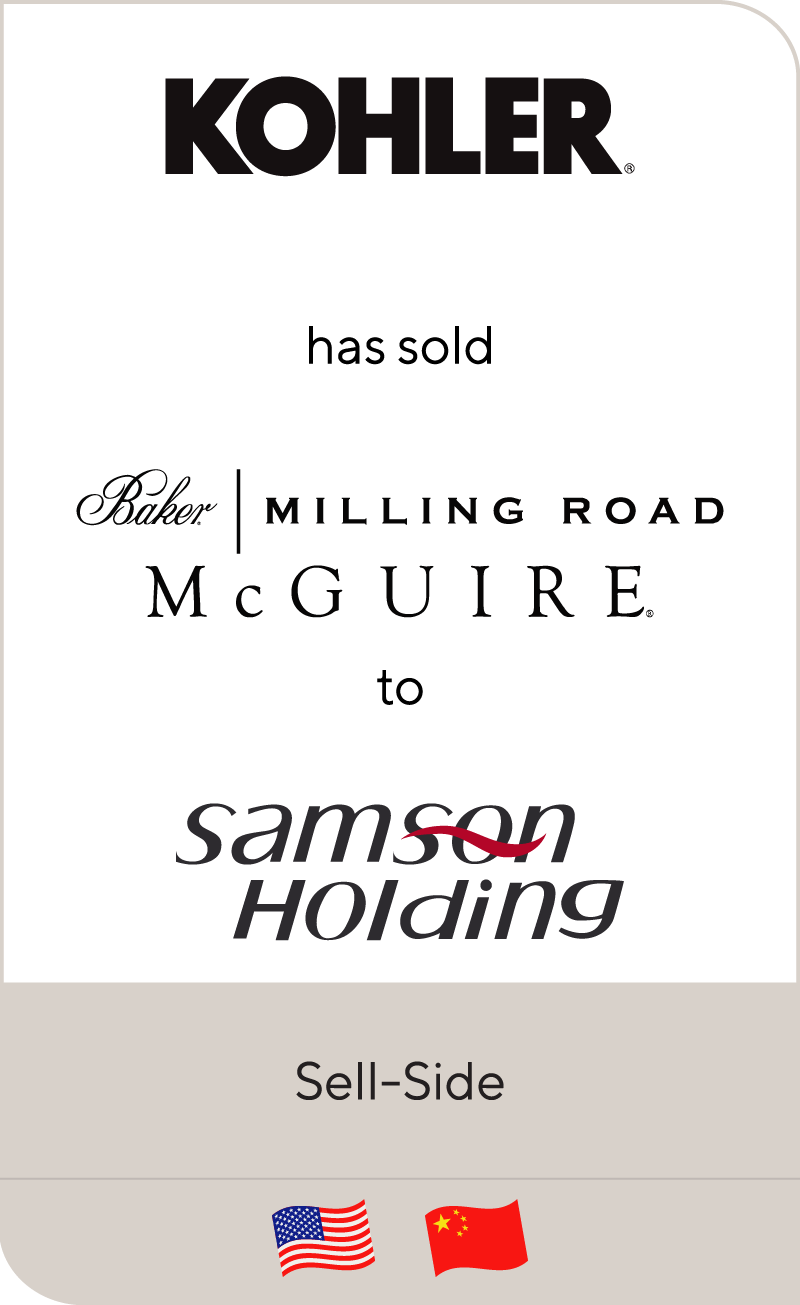 Kohler Company has sold Baker, McGuire and Baker   Milling Road to Samson Holdings