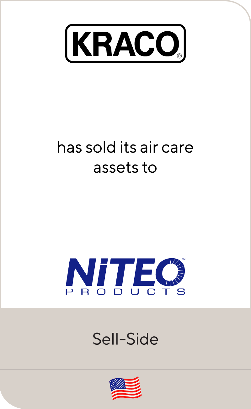 Kraco has sold its air care assets to Niteo