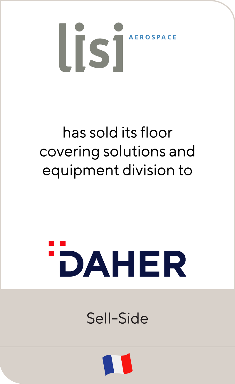 Lisi Group has sold INDRAERO SIREN's floor covering activity to Daher