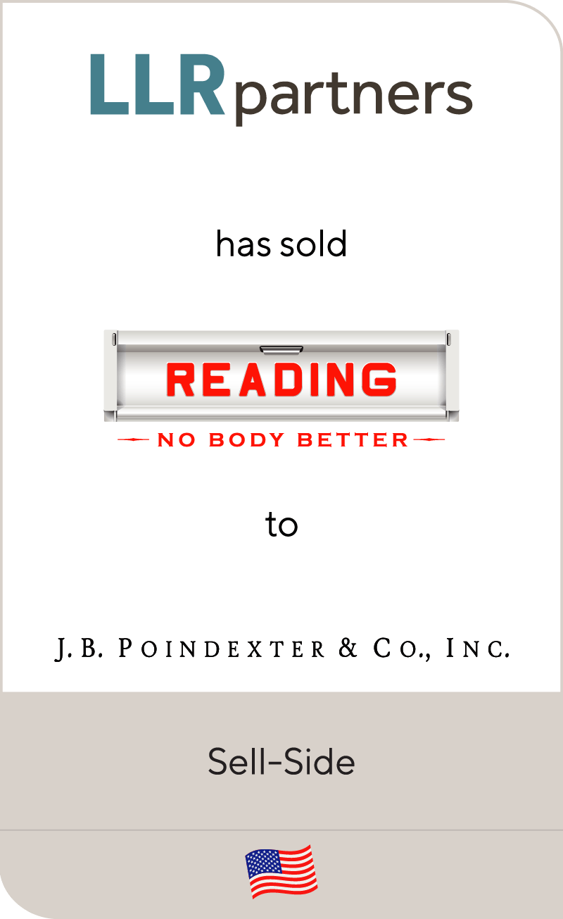 LLR Partners has sold Reading Truck Body to J.B. Poindexter & Co., Inc.