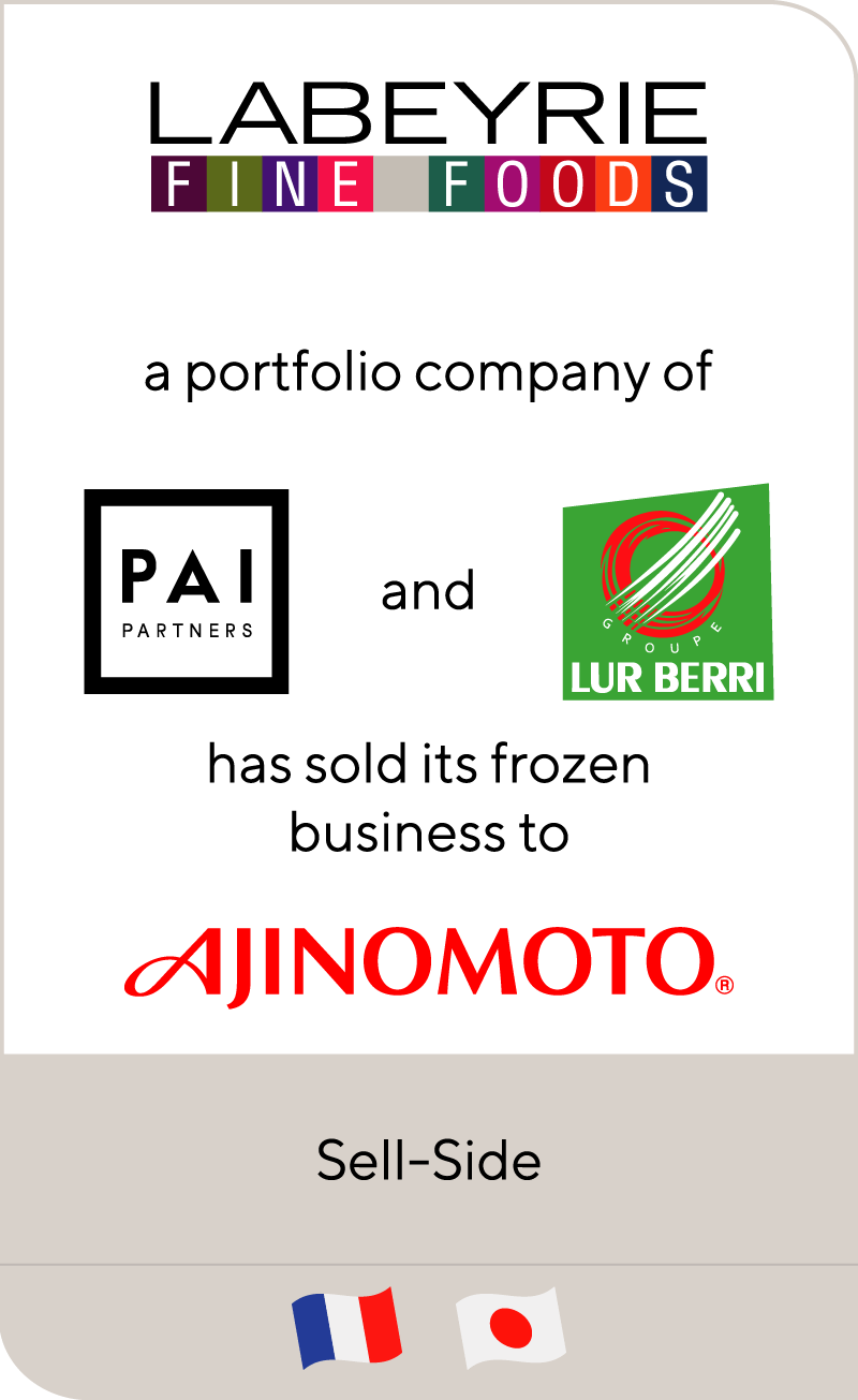 Labeyrie Fine Foods has sold its frozen business to Ajinomoto