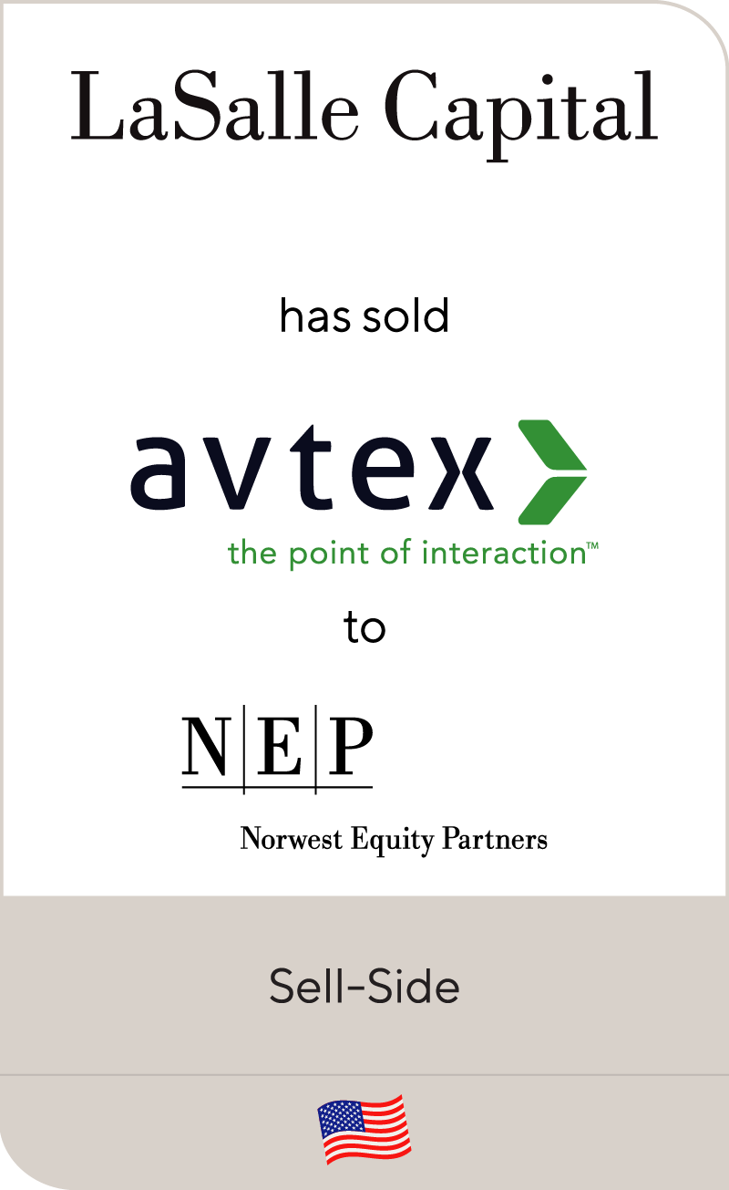 LaSalle Capital has sold Avtex Solutions to Norwest Equity Partners