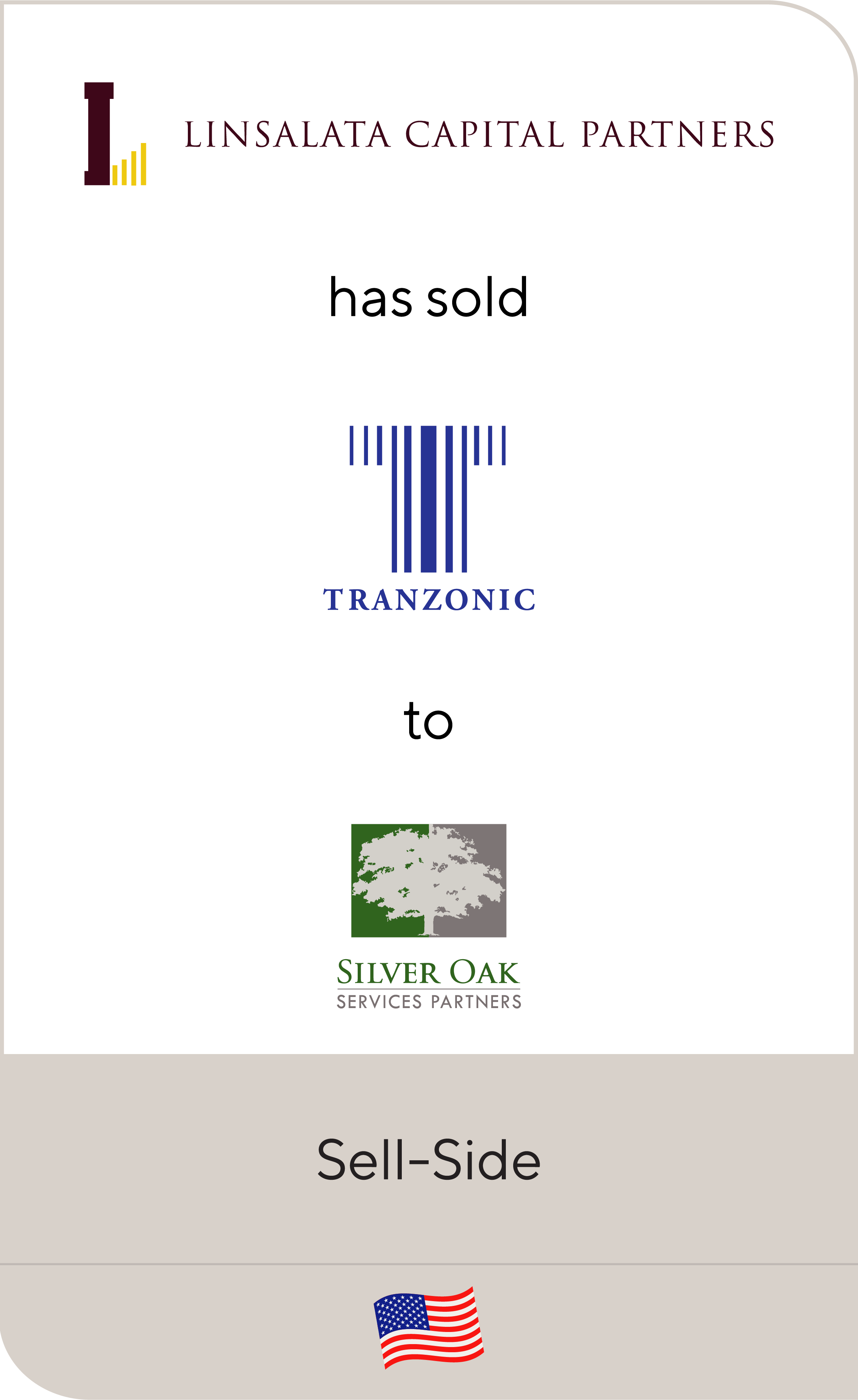 Linsalata Capital Partners has sold Tranzonic to Silver Oak Services Partners