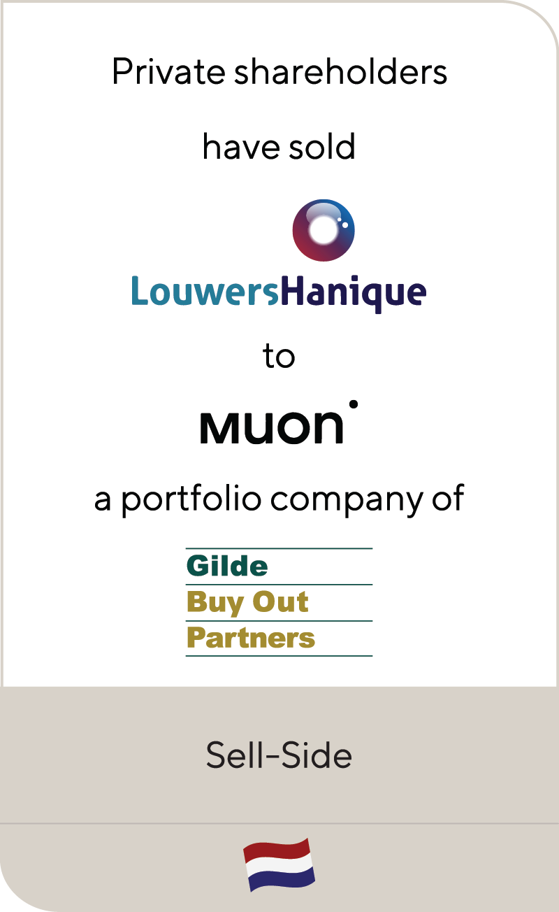 Louwers Hanique Muon Group Gilde Buy Out Partners 2021