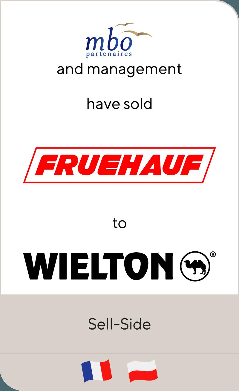 MBO Partenaires has sold Fruehauf to Wielton