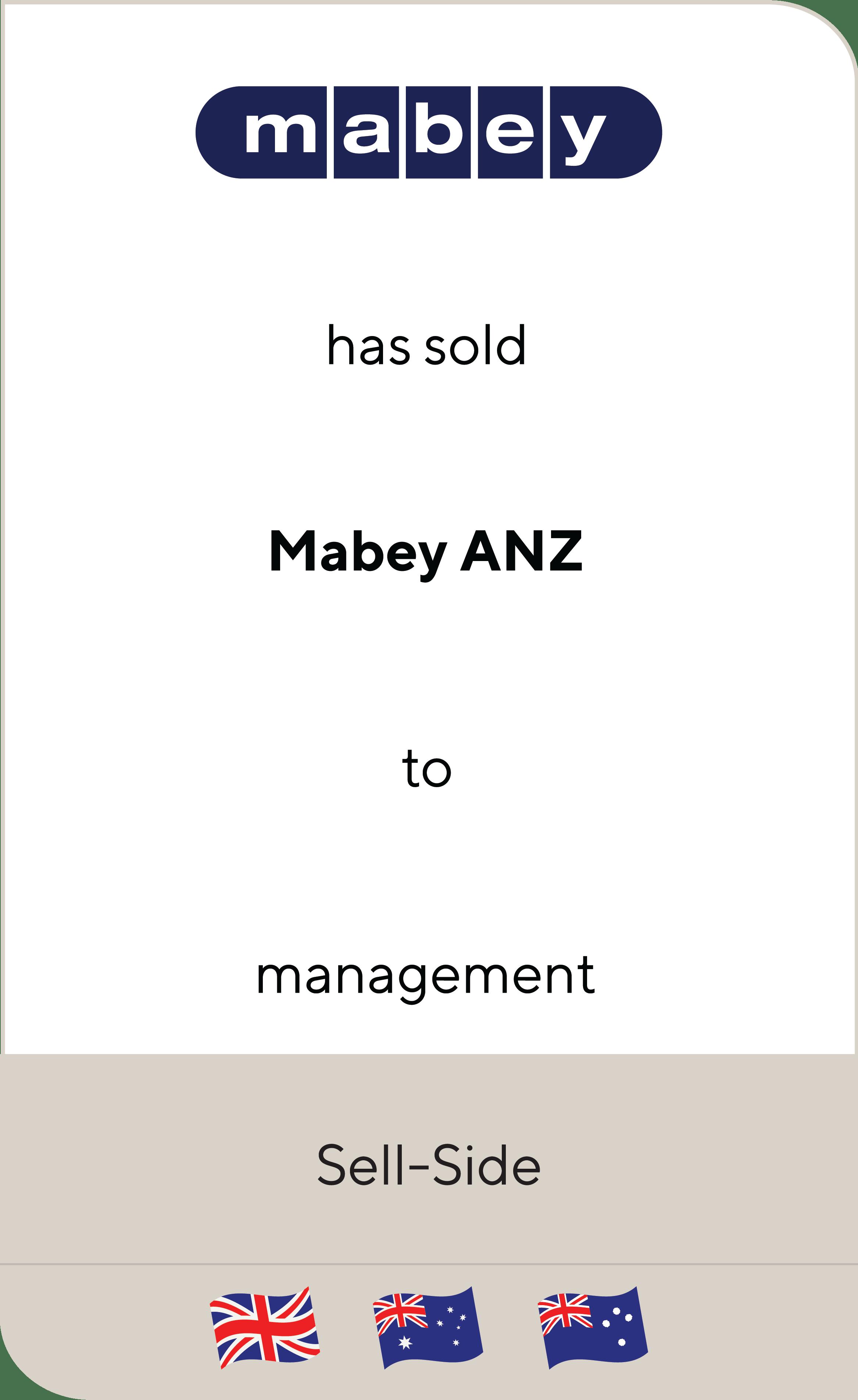 Mabey Mabey ANZ 2019