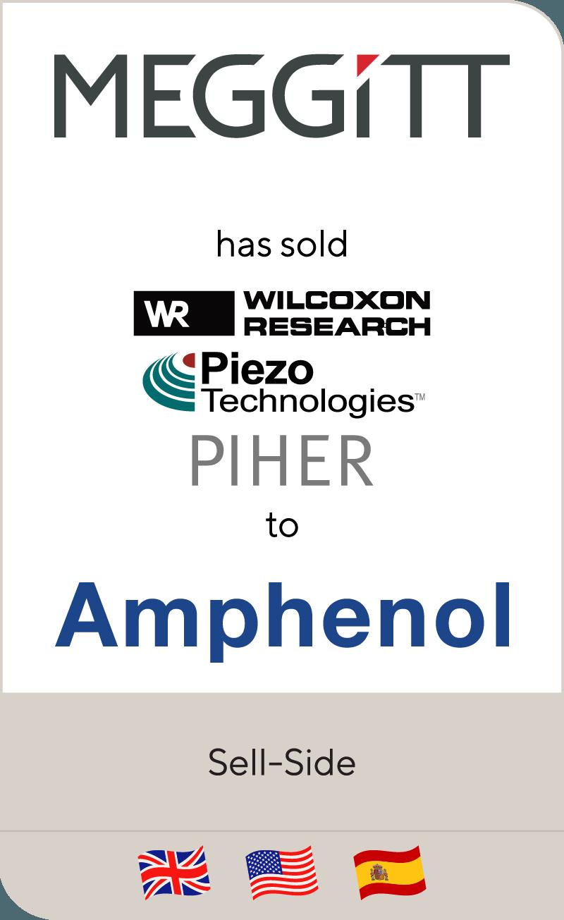 Meggitt PLC has sold industrial sensing businesses to Amphenol Corporation