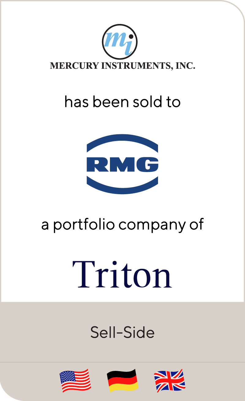 Mercury Instruments has been sold to RMG GROUP, a portfolio company of Triton