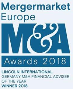 Mergermarket Europe 2018 Award