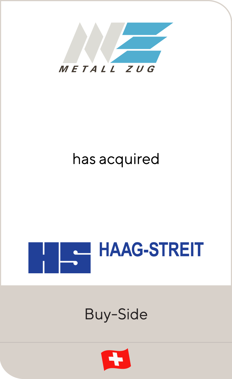 Haag-Streit has been acquired by Metall Zug