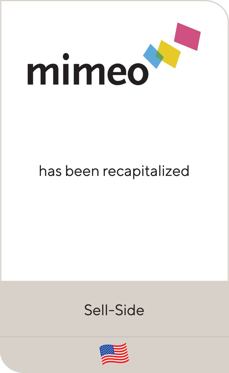 Mimeo has recapitalized