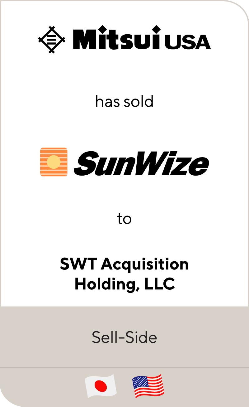 Mitsui Co. SunWize SWT Acquisition 2013