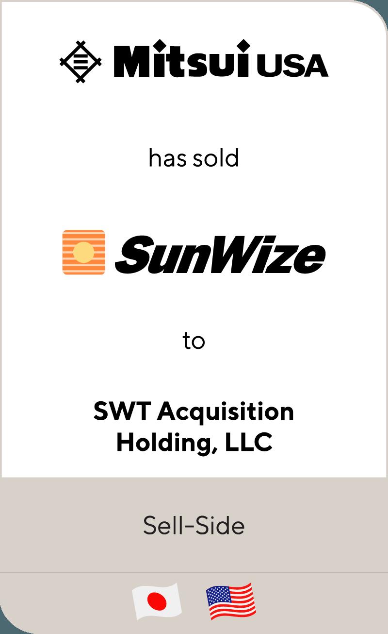 Mitsui Co. SunWize SWT Acquisition 2013