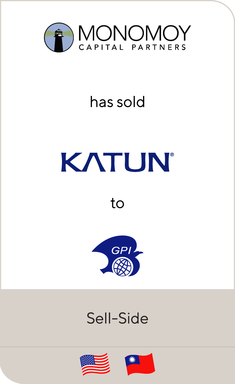 Monomoy Capital Partners has sold Katun Corporation to General Plastic Industrial