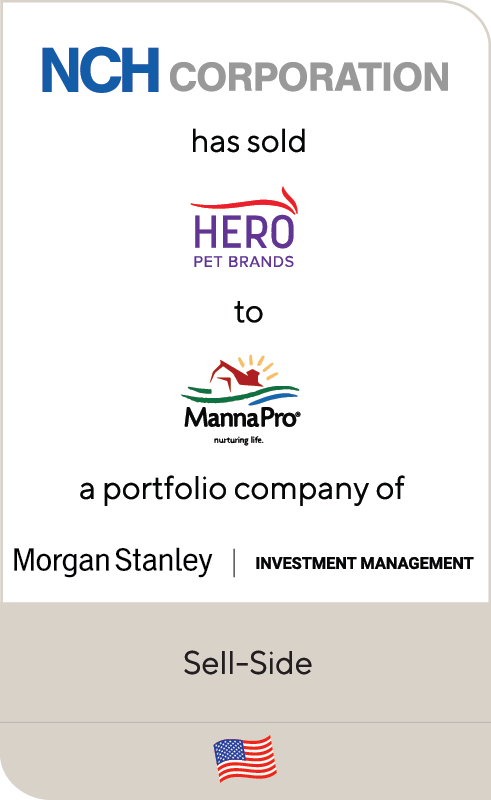 NCH Corporation has sold Hero Pet Brands to Manna Pro, a portfolio