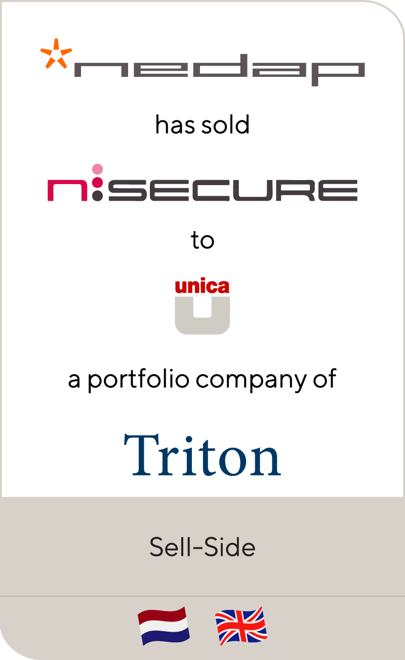 Nedap has sold Nsecure to Unica