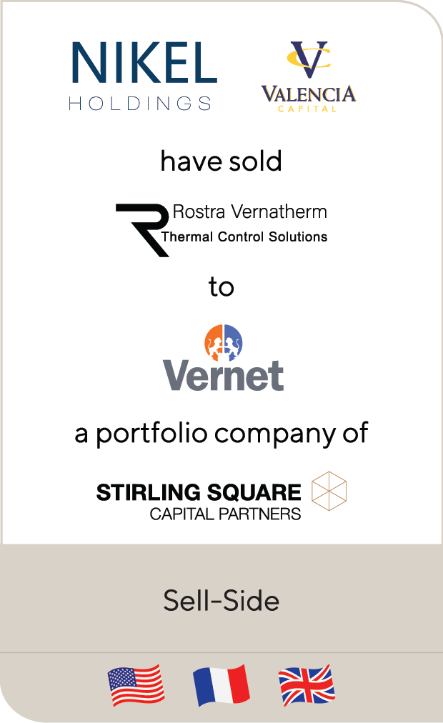 Nikel Holdings Valencia Rostra Vernatherm Vernet SAS Sterling Square 2019