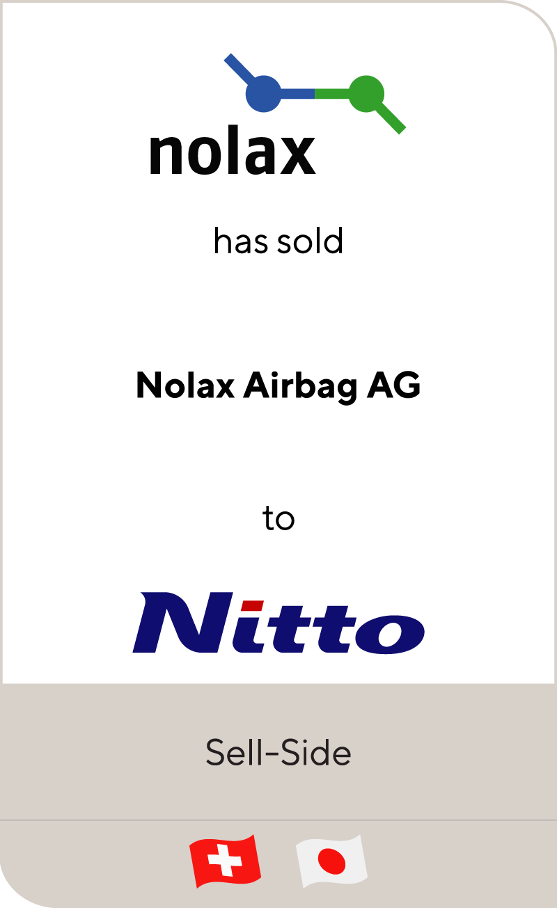 nolax AG has sold its airbag coatings business to Nitto Denko Corporation