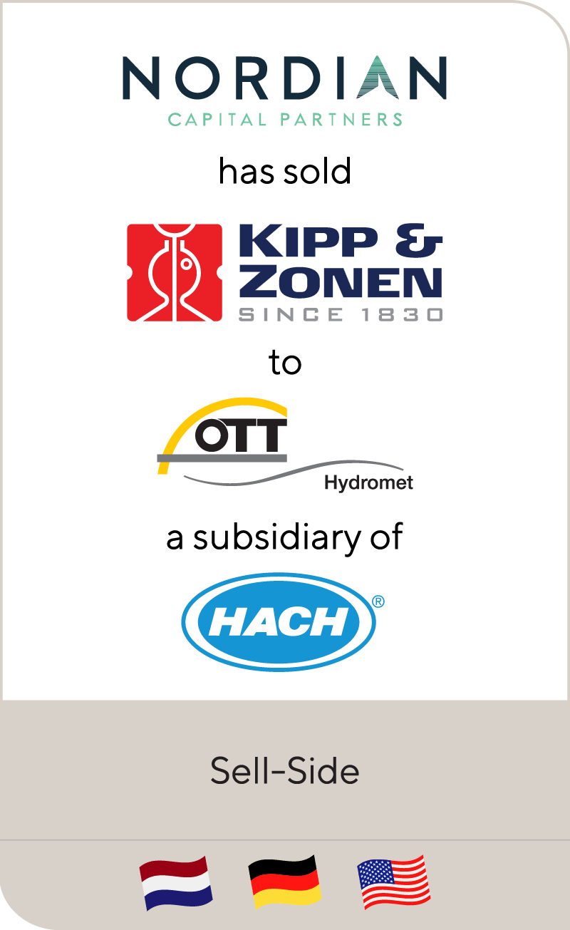 Nordian Capital Partners has sold Kipp & Zonen to OTT Hydromet Group