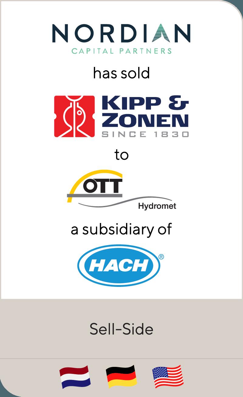 Nordian Capital Partners has sold Kipp & Zonen to OTT Hydromet Group