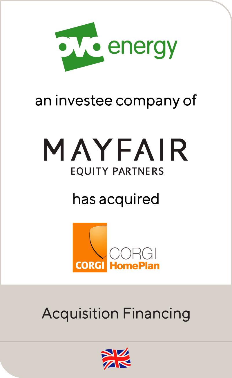 OVO Energy has raised capital to acquire Corgi Home Plan