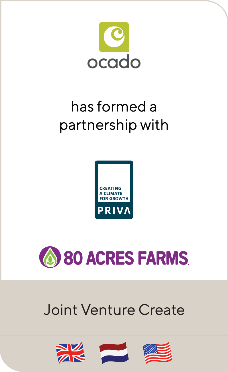 Ocado Group MoU 80 Acres Urban Agriculture 2019