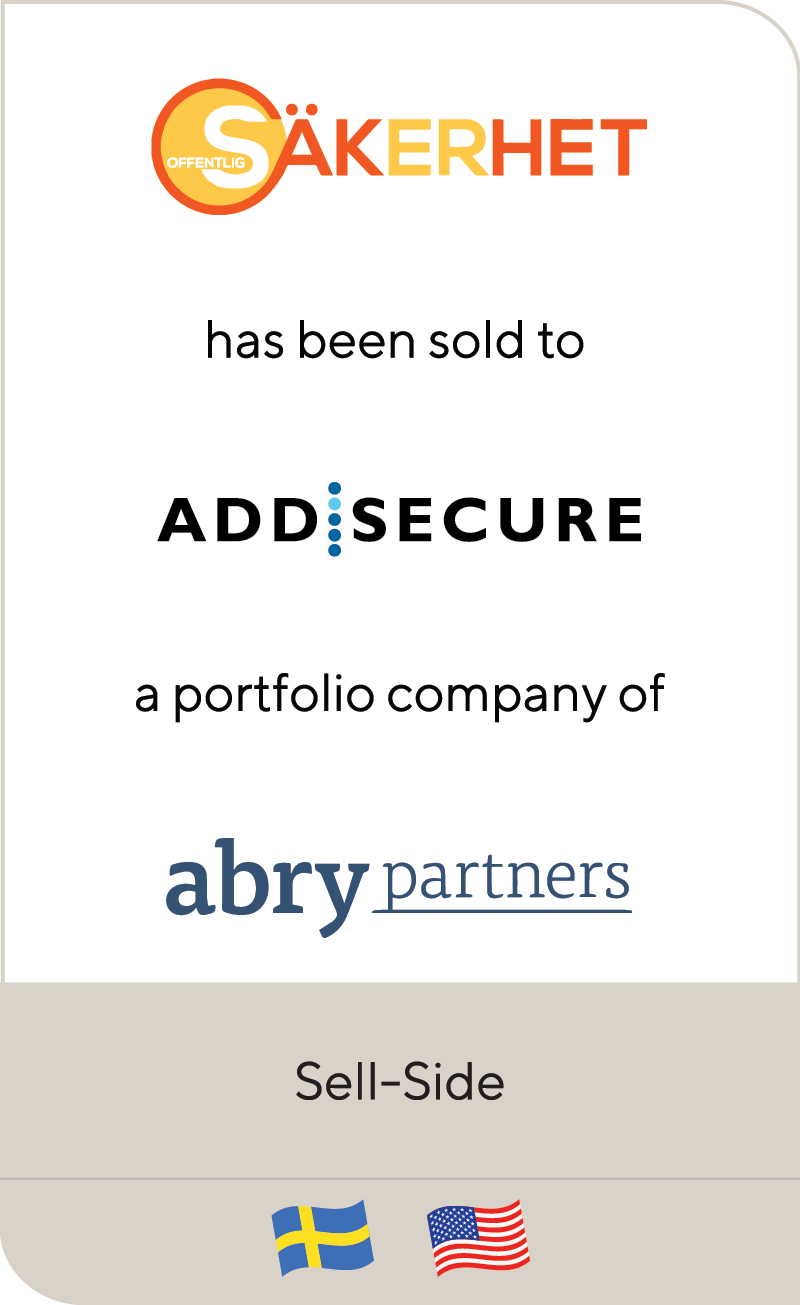 Offentlig Säkerhet has been sold to AddSecure, a portfolio company of Abry Partners