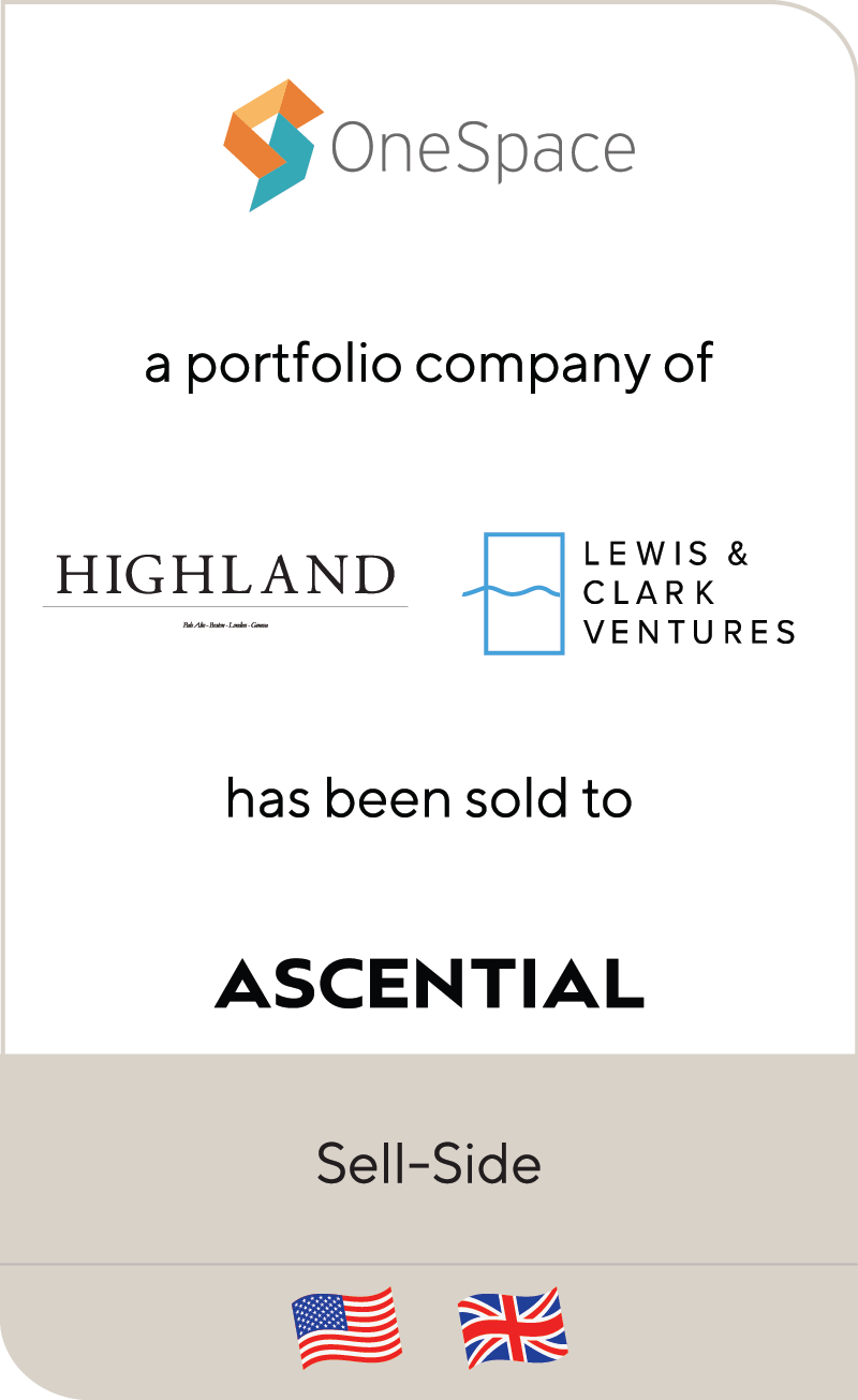 OneSpace Highland Capital Partners Lewis And Clark Ventures Ascential 2021