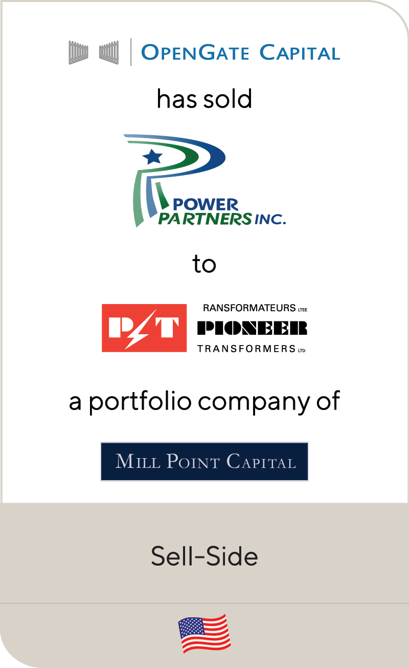 OpenGate Power Partners Pioneer Transformers Mill Point 2019