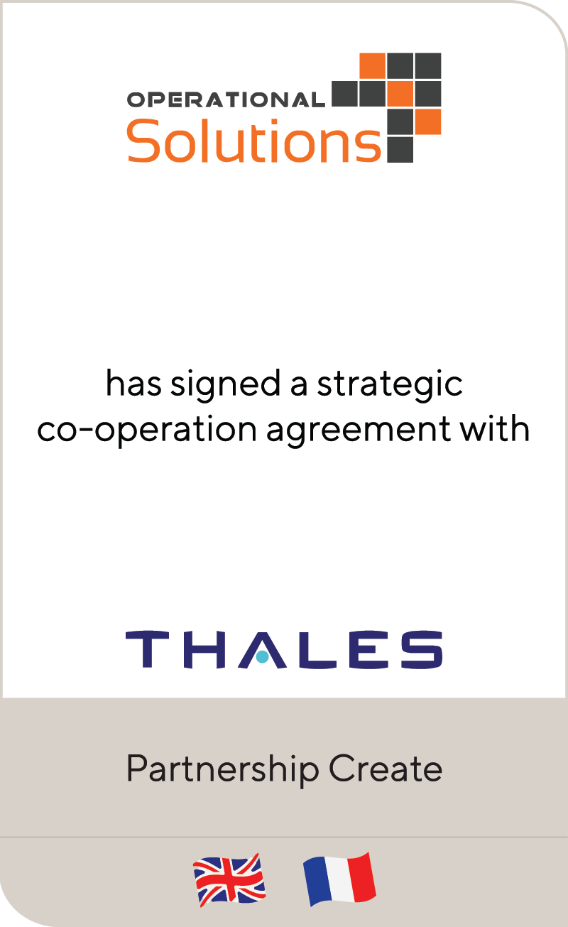 Operational Solutions Thales JV 2021