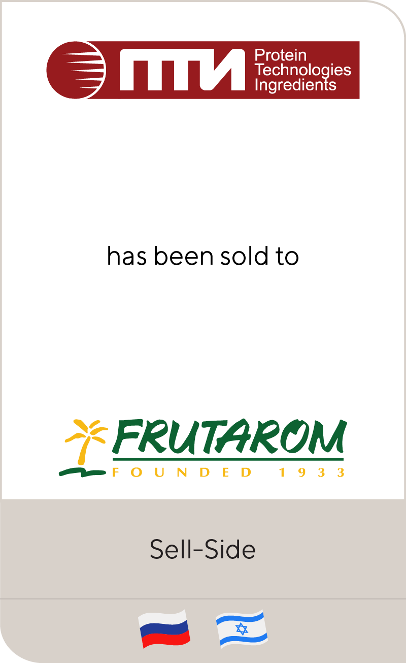 PTI has been sold to Frutarom