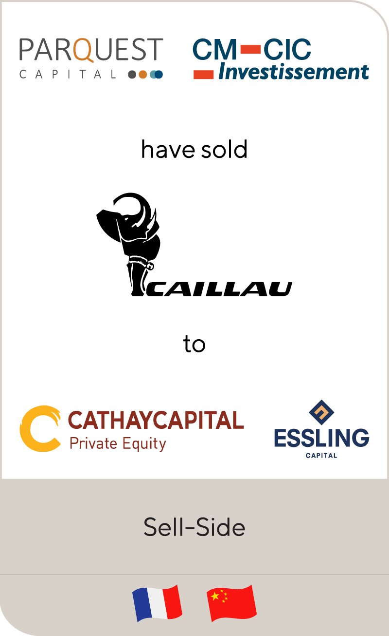 Parquest and CM-CIC Investissement have sold Caillau to Cathay Capital and Essling