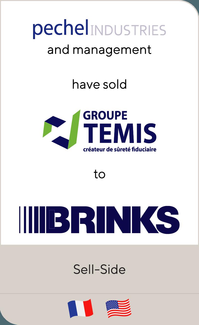 Pechel Industries Groupe has sold Temis to Brinks