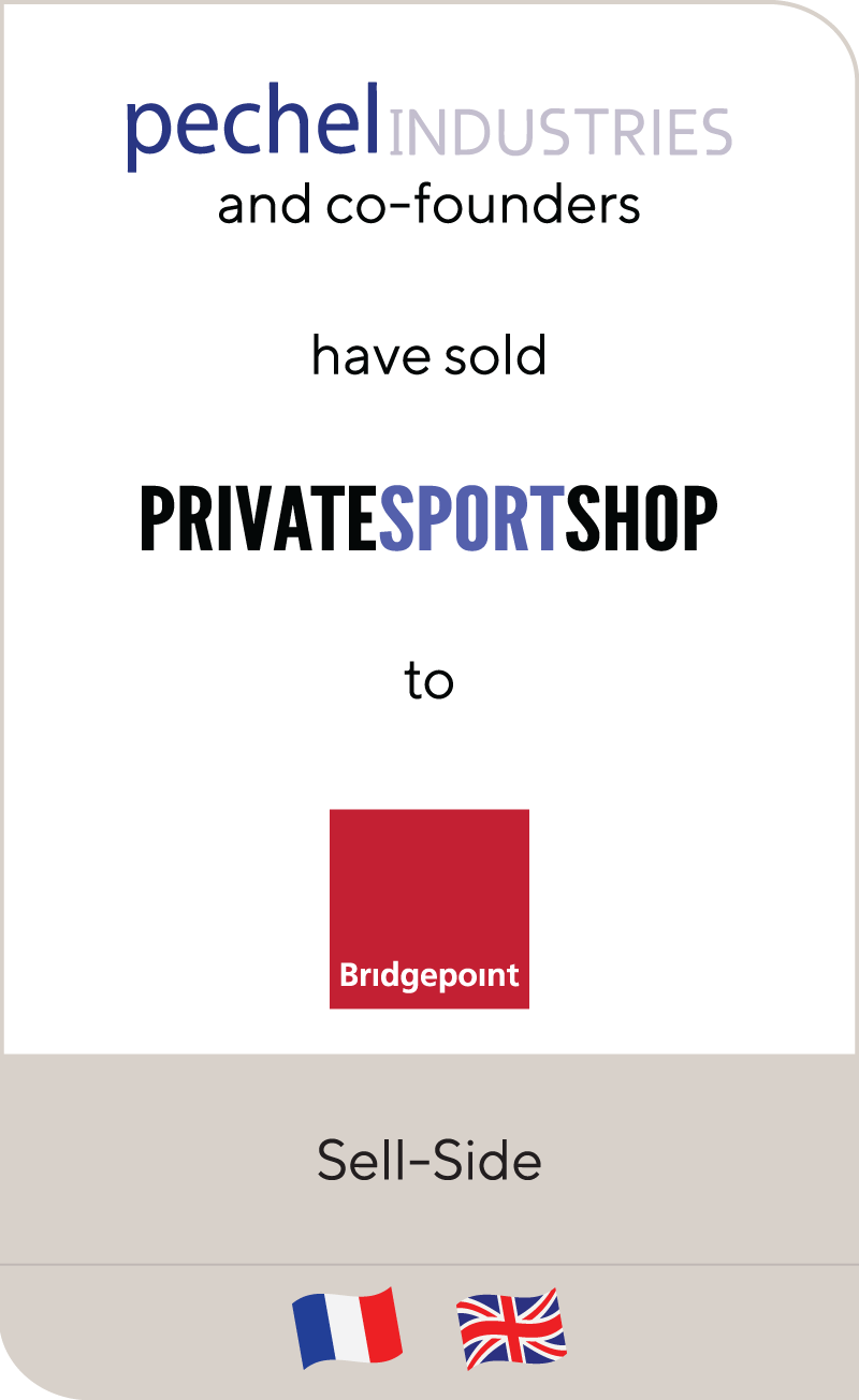 Pechel Industries Private Sport Shop Bridgepoint 2018