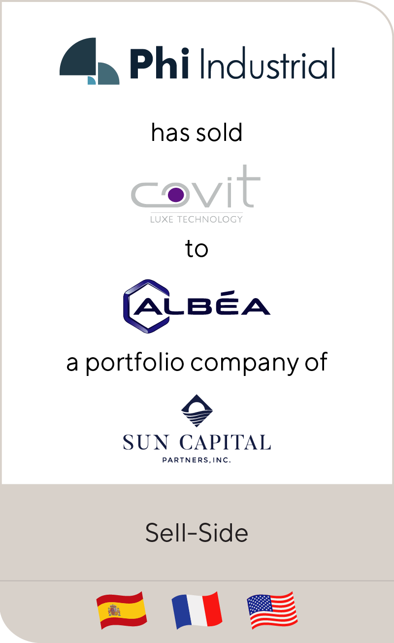 PHI Industrial has sold Covit to Albéa a portfolio company of Sun Capital