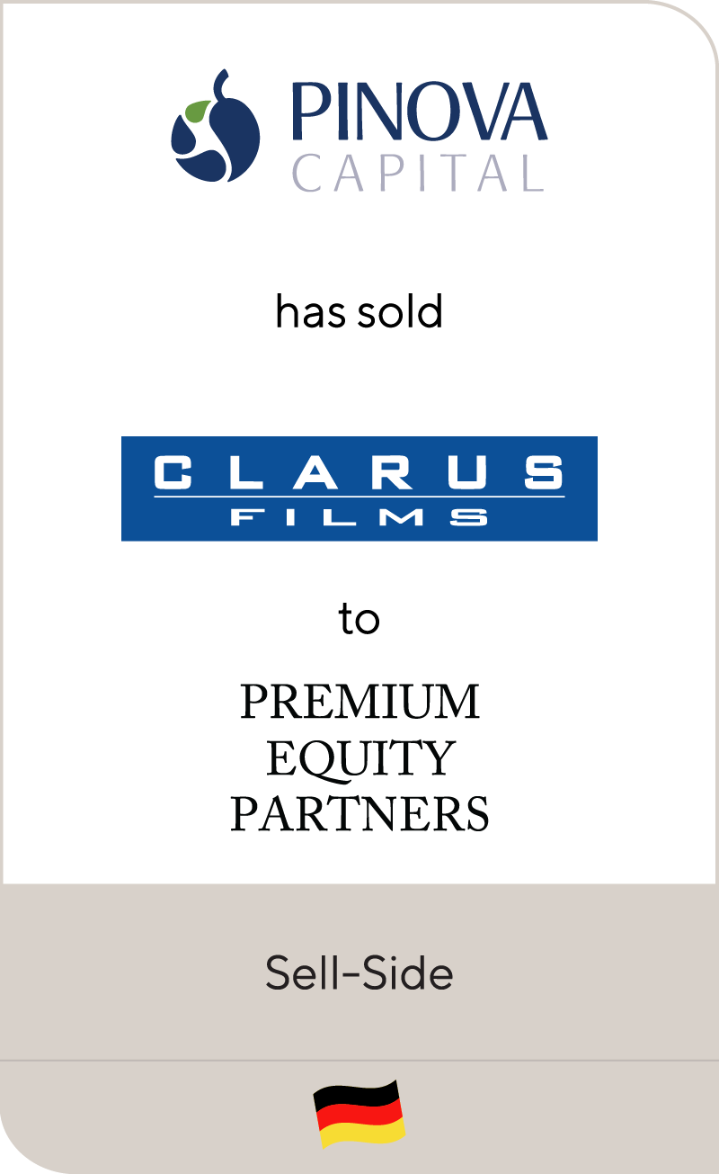 Pinova Capital has sold Clarus Films to Premium Equity