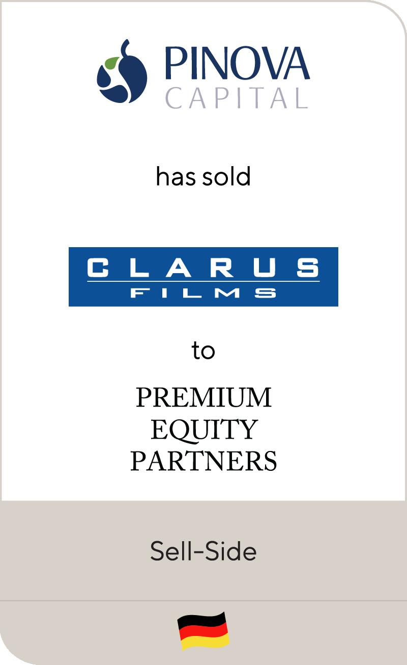 Pinova Capital has sold Clarus Films to Premium Equity