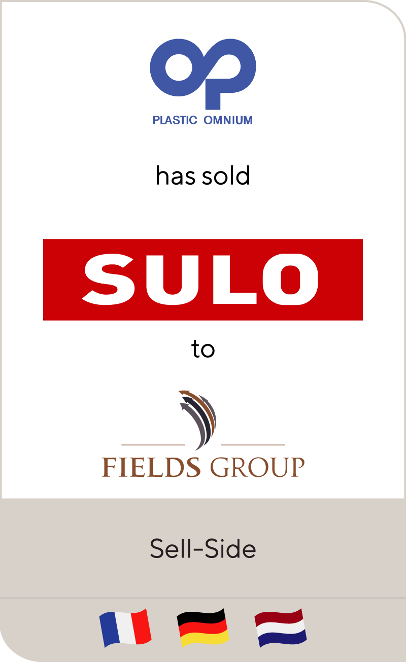 Plastic Omnium Group has sold SULO Emballagen to Fields Group