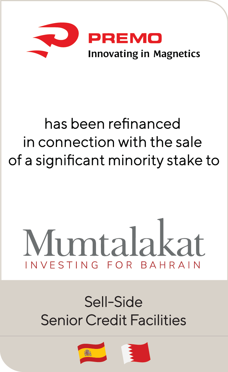 Premo has received a significant minority investment from Mumtalakat
