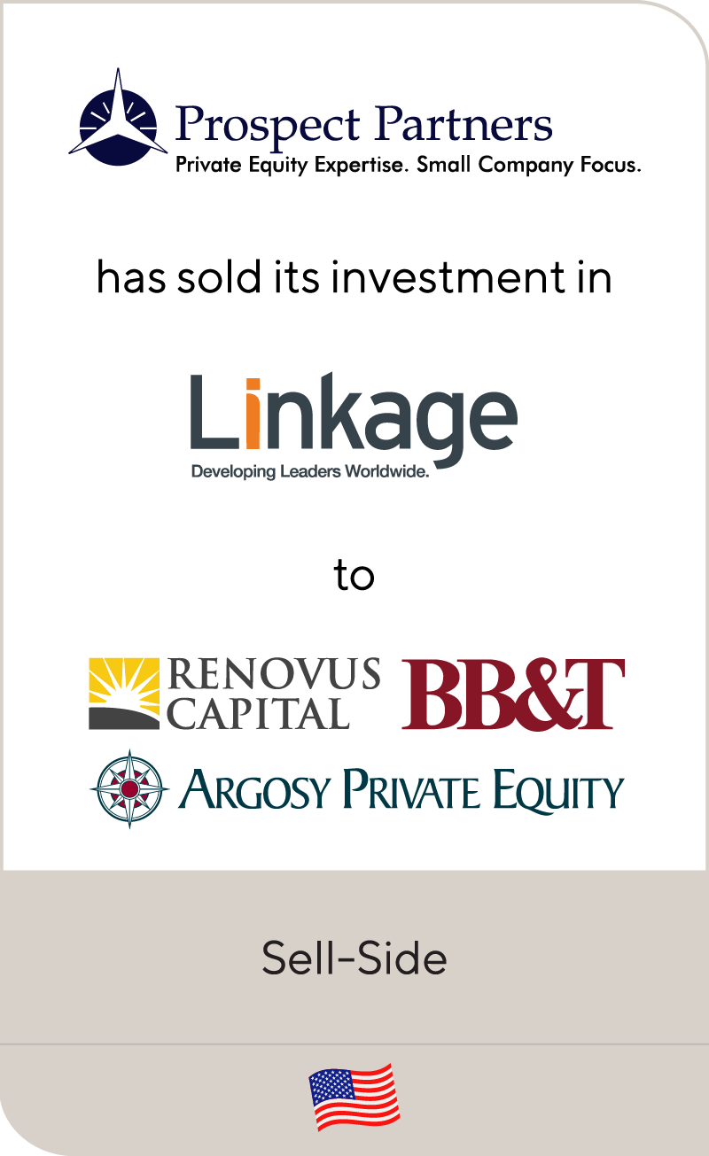 Prospect Partners Linkage Renovus BB&T Argosy Private Equity 2013