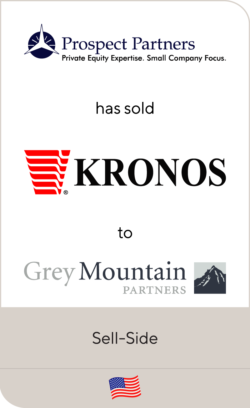 Prospect Partners has sold Kronos Foods to Grey Mountain Partners