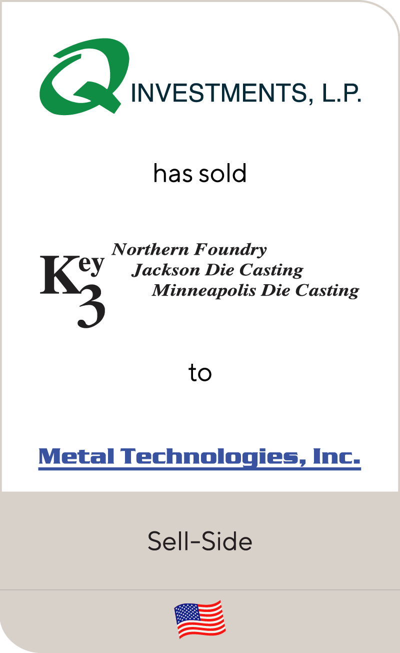 Key 3 Casting, LLC has been sold to Metal Technologies, Inc