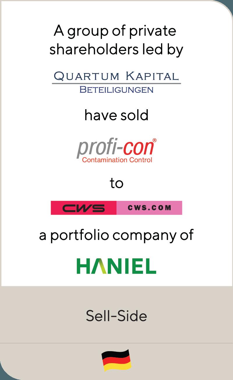 Quartum Kapital Beteilgungen Profi Con CWS Haniel 2020