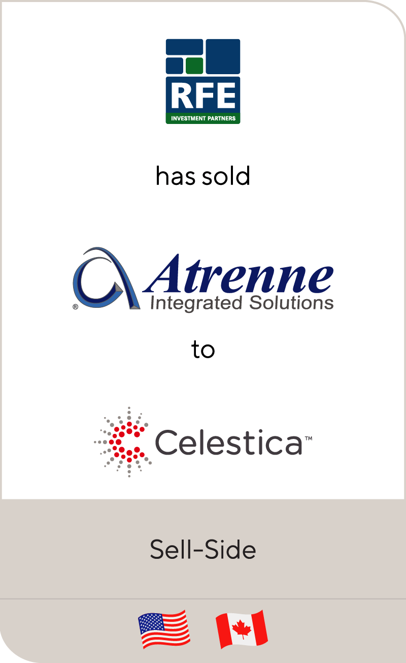 RFE Investments has sold Atrenne Integrated Solutions to Celestica