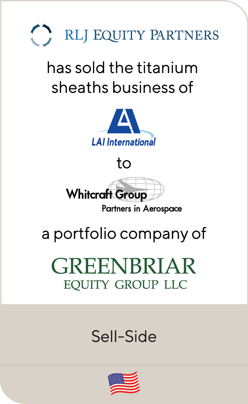 RJL LAI Whitcraft Greenbriar 2019