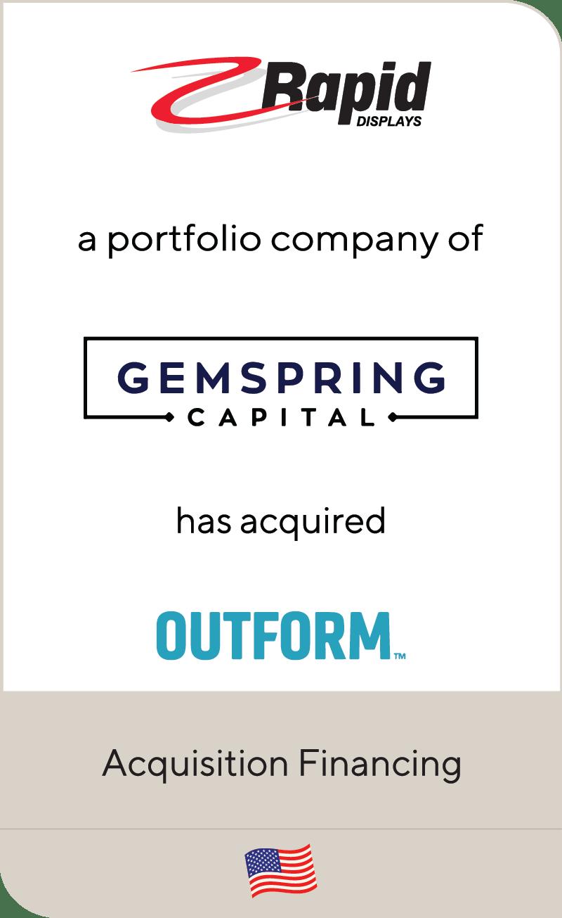 Rapid Displays Gemspring Capital Outform 2021
