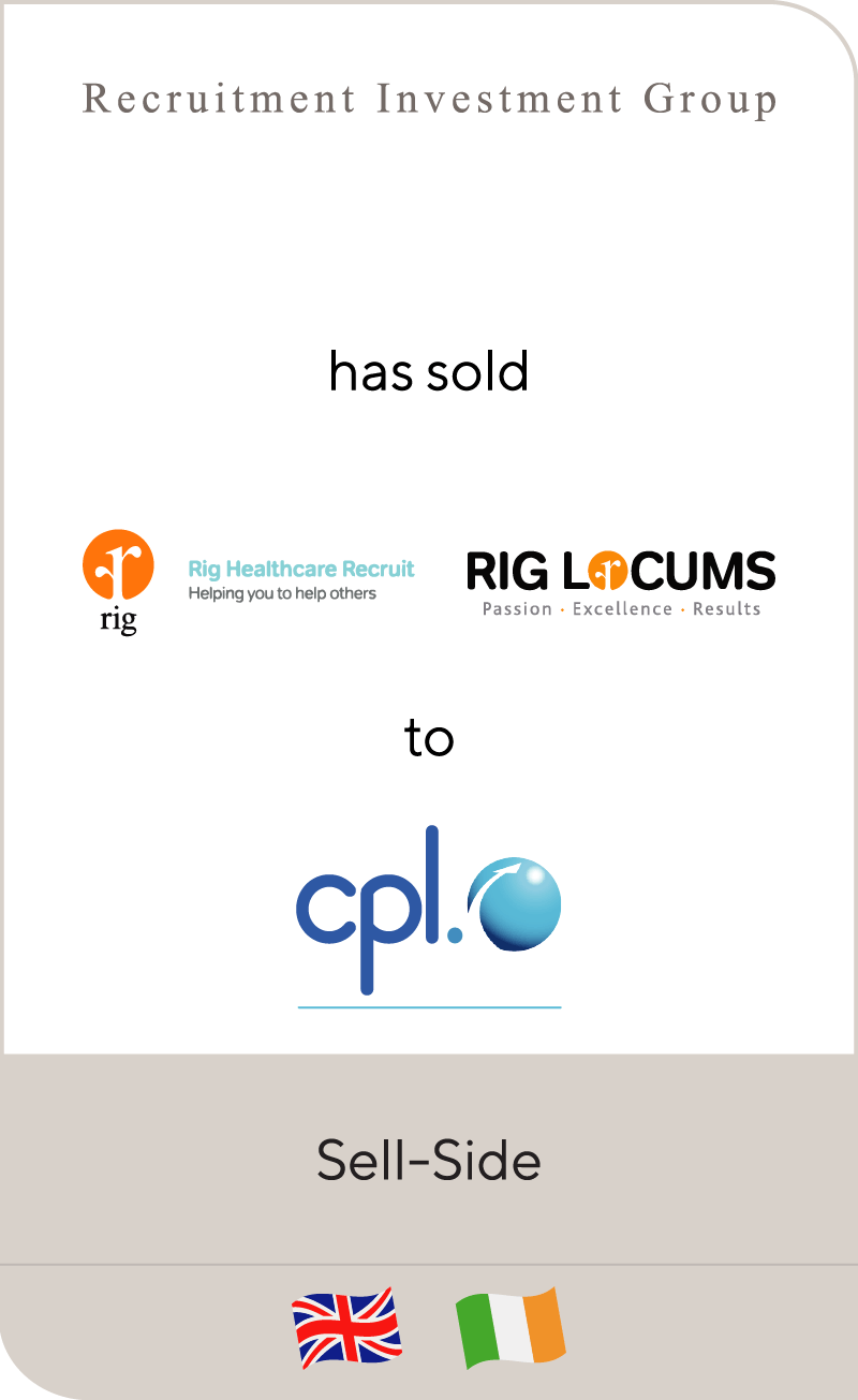 RIG Healthcare has been sold to Cpl Resources plc